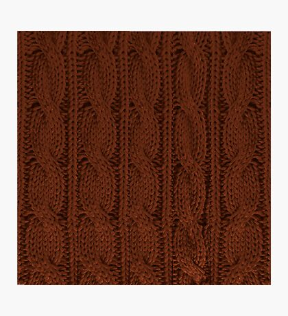 Brown Knit Photographic Print