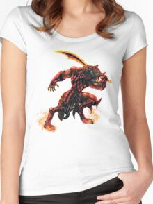 War Within Fire Wolf Women's Fitted Scoop T-Shirt