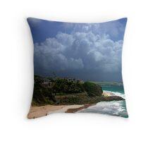 Crane Beach, Barbados Throw Pillow