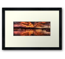 Burn For You - Newport, Sydney Australia - The HDR Experience Framed Print