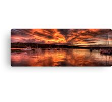 Burn For You - Newport, Sydney Australia - The HDR Experience Canvas Print