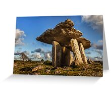 Poulnabrone dolmen the Burren, County Clare, Ireland. Greeting Card
