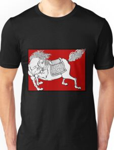 Dynasty Horse on Red Unisex T-Shirt