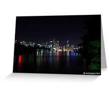 Brisbane City at Night Greeting Card