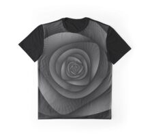 Spiral Labyrinth in Monochrome Graphic T-Shirt