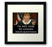 Your Questions Framed Print