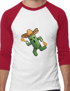 Musical Cactuer  Men's Baseball ¾ T-Shirt