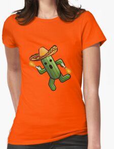 Musical Cactuer  Womens Fitted T-Shirt
