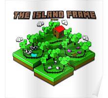 Isometric Island Frame Poster
