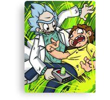 Rick and Morty - Portals Canvas Print