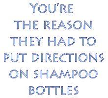 Directions on Shampoo Photographic Print