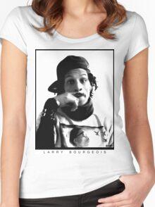 Larry Bourgeois Moustashe finger  Women's Fitted Scoop T-Shirt