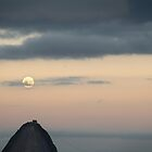 Super moon on the Sugar Loaf by Nicolas Noyes
