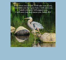Blue Heron Reflections Isaiah 46:4 Womens Fitted T-Shirt