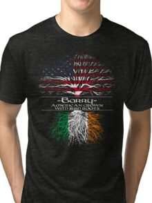 Barry - American Grown with Irish Roots Tri-blend T-Shirt