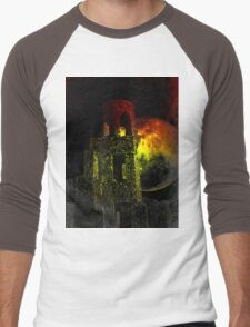 The Ruins Of Blarney Castle Ireland Men's Baseball ¾ T-Shirt