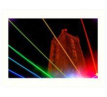 Rainbow Tower Art Print