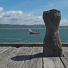 Bollard Boats and Blue Sky by Yampimon