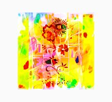 Yellow Red Flowers Lemons Limes Abstract Unisex T-Shirt