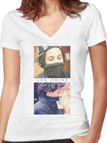Les Twins 3 Women's Fitted V-Neck T-Shirt