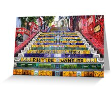 Escadaria Selaron Greeting Card
