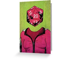d20 Greeting Card