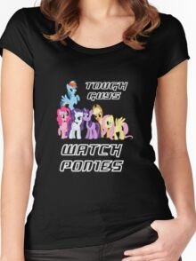 Tough guys [white text] Women's Fitted Scoop T-Shirt