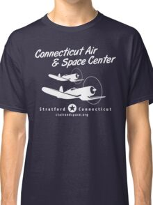 Connecticut Air & Space Center Corsair Design (White)  Classic T-Shirt