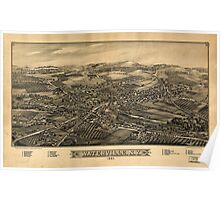 Panoramic Maps Waterville NY 1885 Poster