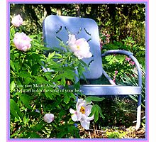 Mother's Day Chair in the Garden Photographic Print