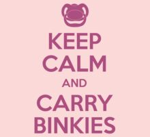 Keep Calm and Carry Binkies Pink by AngryMongo