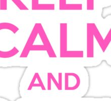 Keep Calm and Carry Binkies Pink Sticker