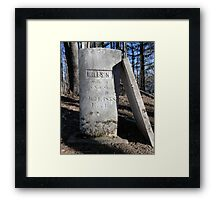 Tombstone of Miles H Framed Print