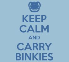Keep Calm and Carry Binkies Blue Kids Clothes