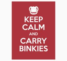 Keep Calm and Carry Binkies Sticker by AngryMongo