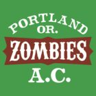 Portland Zombies Athletic Club (dark) by Rob DeBorde