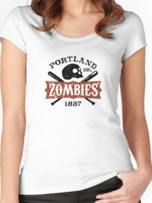 Portland Zombies Deadball Crest Women's Fitted Scoop T-Shirt