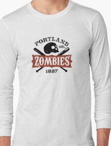 Portland Zombies Deadball Crest Long Sleeve T-Shirt