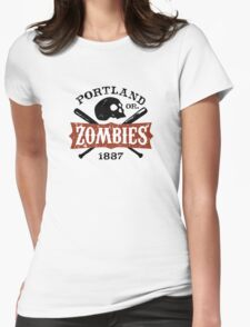 Portland Zombies Deadball Crest Womens Fitted T-Shirt