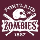 Portland Zombies Deadball Crest White by Rob DeBorde