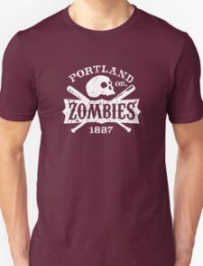 Portland Zombies Deadball Crest White T-Shirt