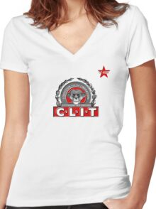 I.T HERO - C.L.I.T Women's Fitted V-Neck T-Shirt