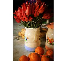 Shomali Tulips in a Pitcher Photographic Print