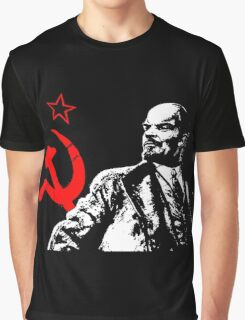 LENIN-RED STAR Graphic T-Shirt