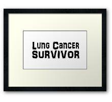 Lung Cancer Framed Print
