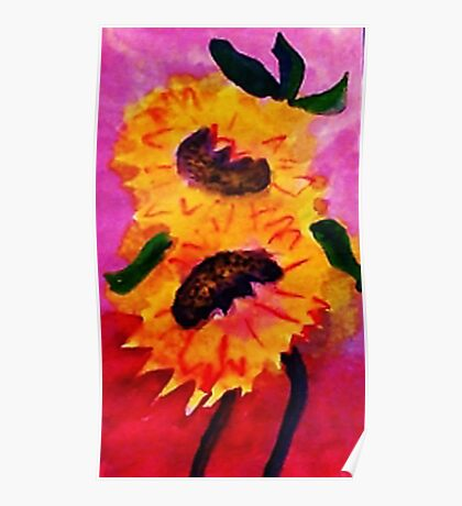Happy Mothers Day!  watercolor Poster