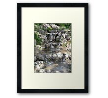 Tranquil Waterfall Framed Print