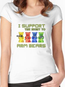 I Support the Right to Arm Bears, Gummy Bears Women's Fitted Scoop T-Shirt