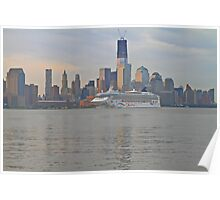 Cruise Ship Norwegian Star on the Hudson Rv. Poster