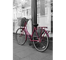 Pink Bicycle Photographic Print